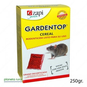 RATICIDA GARDENTOP CEREAL 250 gr.