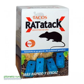RATICIDA TACOS 0,6KG DAPAC(BLOQUE 100 GR)