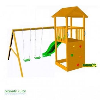 PARQUE INFANTIL MASGAMES CANIGO CON COLUMPIO DOBLE