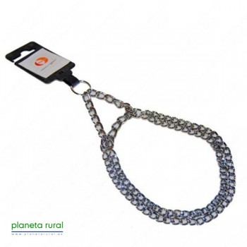 COLLAR METALICO ESTRANGULADOR DOBLE 2 mmX35cm