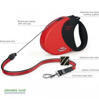 FLEXI COMFORT LONG 2 8MT 20KG ROJO