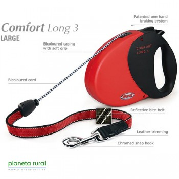 FLEXI COMFORT LONG 3 8MT 50KG ROJO