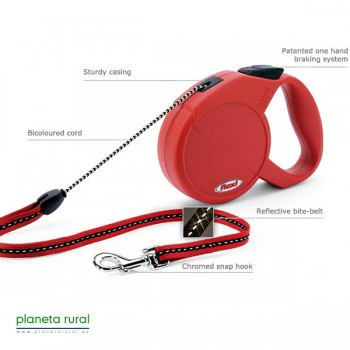 FLEXI CLASSIC LONG 2 7MT 25KG ROJO