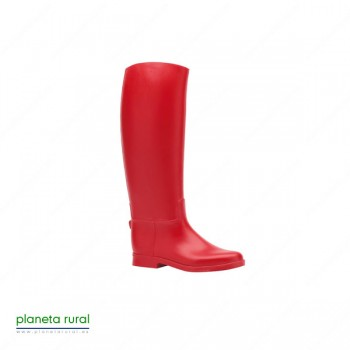 BOTA CAUCHO FLAMBO COLOR ROJO T.29