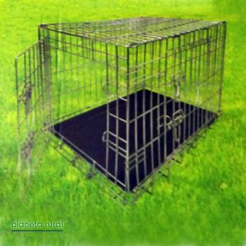 TRANSPORTIN JAULA PERRO METAL 2 R/F 76x48x55cm