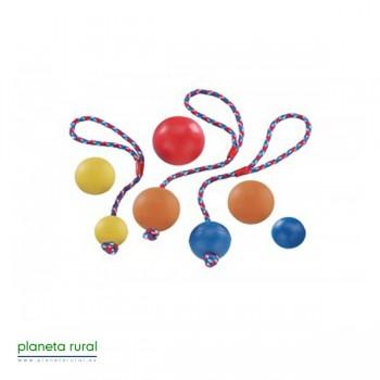 PELOTA CAUCHO CON CUERDA 7cm T/M RUBBER BALL