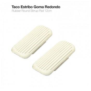 TACO ESTRIBO GOMA BL REDONDO 31950 (PAR)