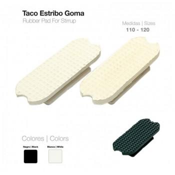 TACO ESTRIBO GOMA BLANCO 21108R-120(PAR)