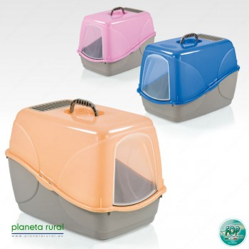 BANDEJA GATO BUFFY COLOR 54x38,5x38 AZUL TRANS