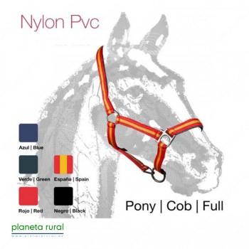 CABEZADA CUADRA CASTECUS NYLON/PVC FULL ROJO