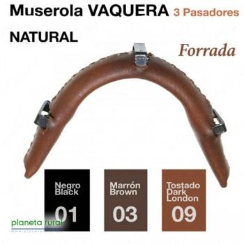 MUSEROLA VAQ. 3-PASADORES/METAL FORRADA AV.