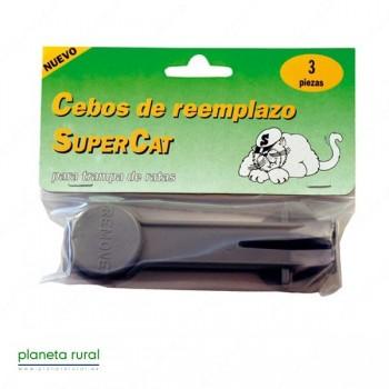 CEBO DE REEMPLAZO RATAS SUPERCAT 3 UNIDADES