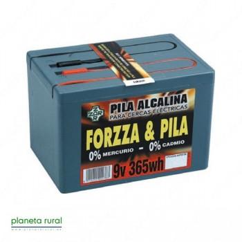 PILA PASTOR FORZZA ALCALINA 9V. 365W.