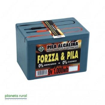 PILA PASTOR FORZZA ALCALINA 9V. 1000W.