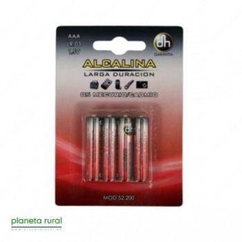 PILA ALCALINA AAA LR-03 1,5V BLISTER 4 PCS.