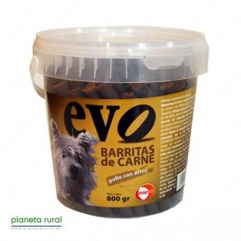 BARRITAS EVO POLLO CON ARROZ 800 gr.