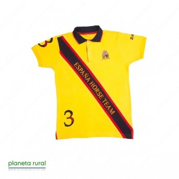 CAMISETA-POLO HORSE-TEAM Nº1 AMARILLO L