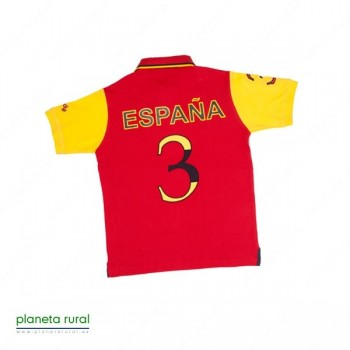 CAMISETA-POLO HORSE-TEAM Nº2 ROJO L