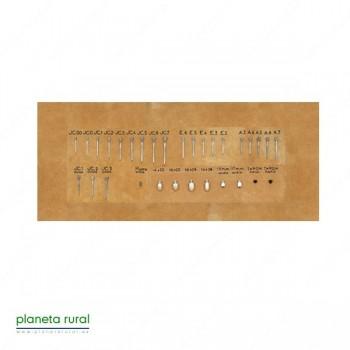 RAMPLON TAPON METAL P/HERR(10uds)TH-3258