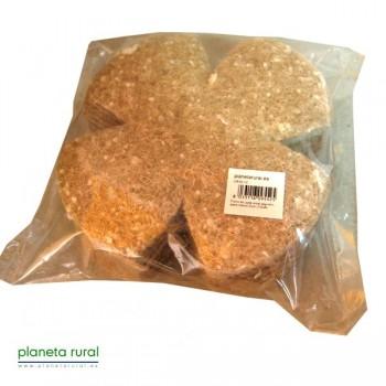 Forro en yute,sisal,algodón para nidos12cm (10uds